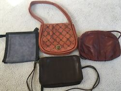 Lot of 4 Slightly Used High End Clutches Bags and Purses $75.00