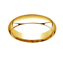 14k Yellow Gold 5mm High Dome Heavy Comfort-fit Wedding Band Ring Size 11