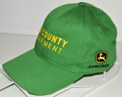 John Deere Baseball Hat Tri County Equipment Green One Size Cap Tractor Farm $14.96