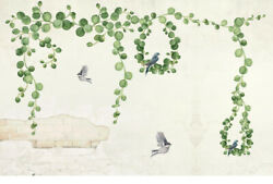 Wall Stickers Birds Leaf Green Removable For Living Room Bed Room Background