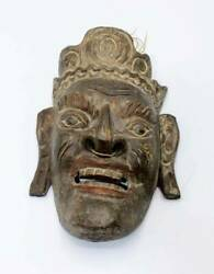 1800and039s Antique Southeast Asian Hand Carved Wood Mask