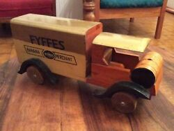 Fyffes Banana Truck Wooden Toy Vintage Antique French Wood Japanese Advertising