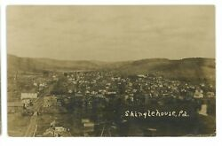 Rppc Aerial View Of Shinglehouse Pa Potter County Real Photo Postcard 2
