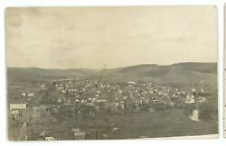Rppc Aerial View Of Shinglehouse Pa Potter County Real Photo Postcard 3