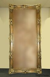 Large 6 Ft.tall Antique French Provincial Louis Xvi Ornate Gold Picture Frame