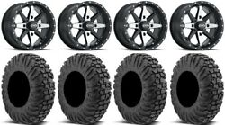 Itp Cyclone 15 Wheels Machined 34 Motovator Tires Can-am Renegade Outlander
