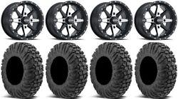 Itp Cyclone 15 Wheels Machined 34 Motovator Tires Can-am Defender