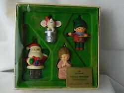 Hallmark 1978 LITTLE TRIMMERS COLLECTION Set4  QX1323 1st Edition Mouse in Thim