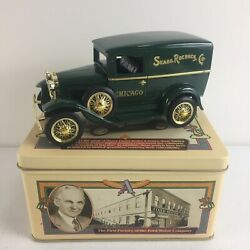 Henry's Lady Ford Model A, Die-cast Bank In Tin Box - Sold By Sears