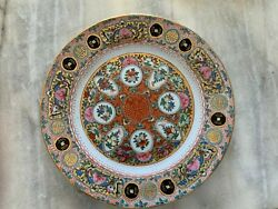 Chinese Multi Colored Plate With Fruit Flowers And Fish Design