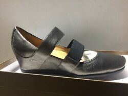 Audley London Style 13417 Plomo Metal Wash Womens Slip In Wedges Us Size 7