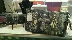 WESTERN CAMO RHINESTONE CROSS HANDBAGS CONCEALED COMPARTMENT $25.00