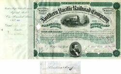 Northern Pacific Railroad Company Signed By John Mackay - Stock Certificate