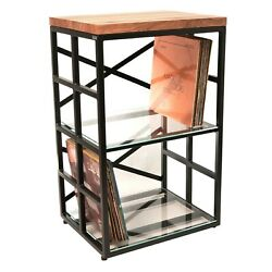 Turntable Stand With Vinyl Records Storage Rack Industrial Vinyl Made In Europe