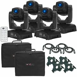 4 American Dj Pocket Pro High Output Mini Moving Heads + Cases + Remote Pack