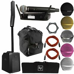 Electro-voice Evolve 50 Column Pa System With Wireless System And Carry Case