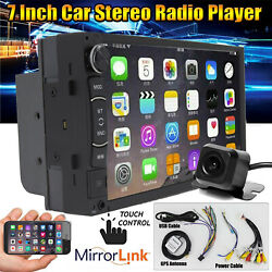Touchscreen Car Stereo Radio Double 2din For Gps Wifi Usb Player W/ Park Camera