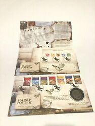 Harry Potter First Day Royal Mail Cover Stamps With 2006 Coin Collectible
