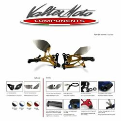 Pey058r Valter Moto Rearsets T2.5 Gold Yamaha Yzf-r1 - 2007 2008