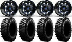 Fuel Lethal Blue 15 Wheels 29 Carnivore Tires Polaris Rzr Turbo S / Rs1