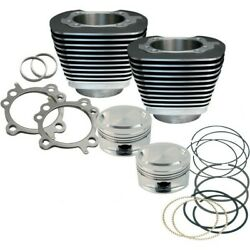 Sands Cycle Black 95 Cylinder Piston Kit For Harley 1999-06 Twin Cam 910-0204