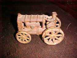 Rare Antique Cast Iron Toy Fordson 6 Farm Tractor Heavy Treads Estate Find Old