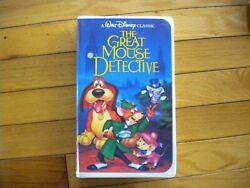 Rare Vintage Black Diamond Edition The Great Mouse Detective Vhs 1360 Movie Tape