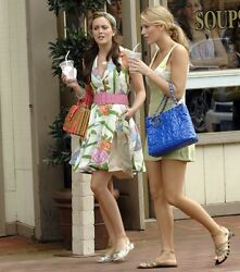 Chanel Patent Puzzle Bag Purse CC Charm Blue Lrge Tote Gold Chain Blake Lively $1,599.99
