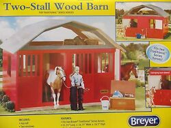 New Breyer Traditional Series Two Stall Wood Horse Barn