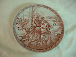 Spode Blue Room Collection Christmas Plate No. 2 Victorian Ice Skating England