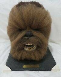 1996 Star Wars Life Size Chewbacca Head/bust With Coa In Original Box