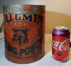 Super Rare Calumet Baking Powder 10 Lb Tin W Paper Label On Sides And Embossed Lid