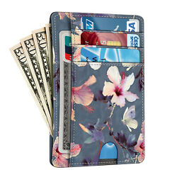 RFID Blocking Leather Pocket Wallet Credit Card Holder Case with ID Window $7.99