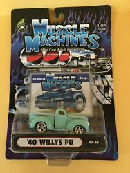 Funline Muscle Machines '40 Willys Pu Pickup - Turquoise 164