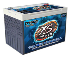 Xs Power D1600 16 Volt Agm 2400 Amp Sealed Car Audio Battery/power Cell+terminal