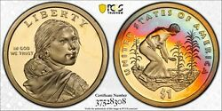 2009-s Sacagawea Native American Dollar Pcgs Pr69dcam Monster Color Toned Dr