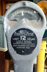 Park O Meter 12 Hour Street Parking Meter Quarters Only W/stand