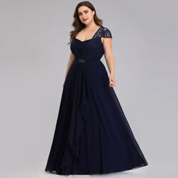 Ever-Pretty US Plus Size Lace Mother Of Bride Dresses Cap Sleeve Celebrity Gowns