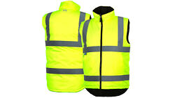 Pyramex Hi-vis Class 2 Insulated Safety Vest Reflective Reversible Sizes S-5xl