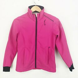 Halti Womens Size 4 Storm Wall Soft Shell Jacket Coat Pink Long Sleeve Zip Front