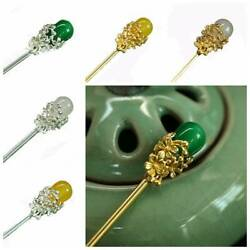 Chinese Vintage Wood Lampwork Gold Silver Hair Stick Hair Chopsticks Hairpin Pin