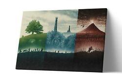 Lord Of The Rings Trilogy Canvas Print Lotr Wall Art Artwork Painting Poster