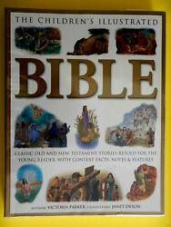 The Childrens Illustrated Bible Softcover With Clear Plastic Book Cover