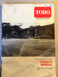 Toro Hydraulic Automatic Sprinkler System Owner's Manual. Circa June 1977