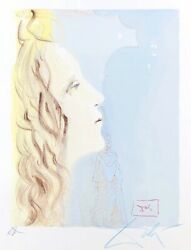 Salvador Dali 1904-1989 -greatest Beauty Of Beatrice- Lithograph Print, Signed