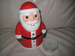 SWEET CERAMIC SANTA CLAUS TEA LITE HOLDER - NEW FROM HALLMARK WITH TAGS