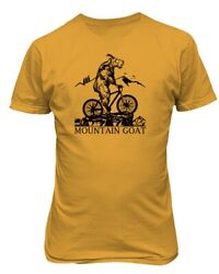 Mountain Biking Funny Bicycle Goat Decal Patch Vintage Retro Men's T-Shirt