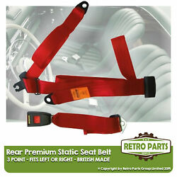 Rear Static Seat Belt For Volvo 262c Bertoni Coupe 2dr 1977-1985 Red