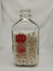 Pet Dairy Products Cottage Cheese Finger-grip Half Gallon Glass Bottle