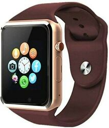 Bluetooth GSM Smartwatch for Men Women Kids for Samsung Android amp; iPhone Gold $20.90